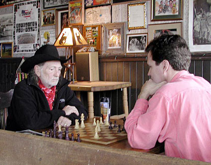 Getting a Chess Lesson From the Red Headed Stranger