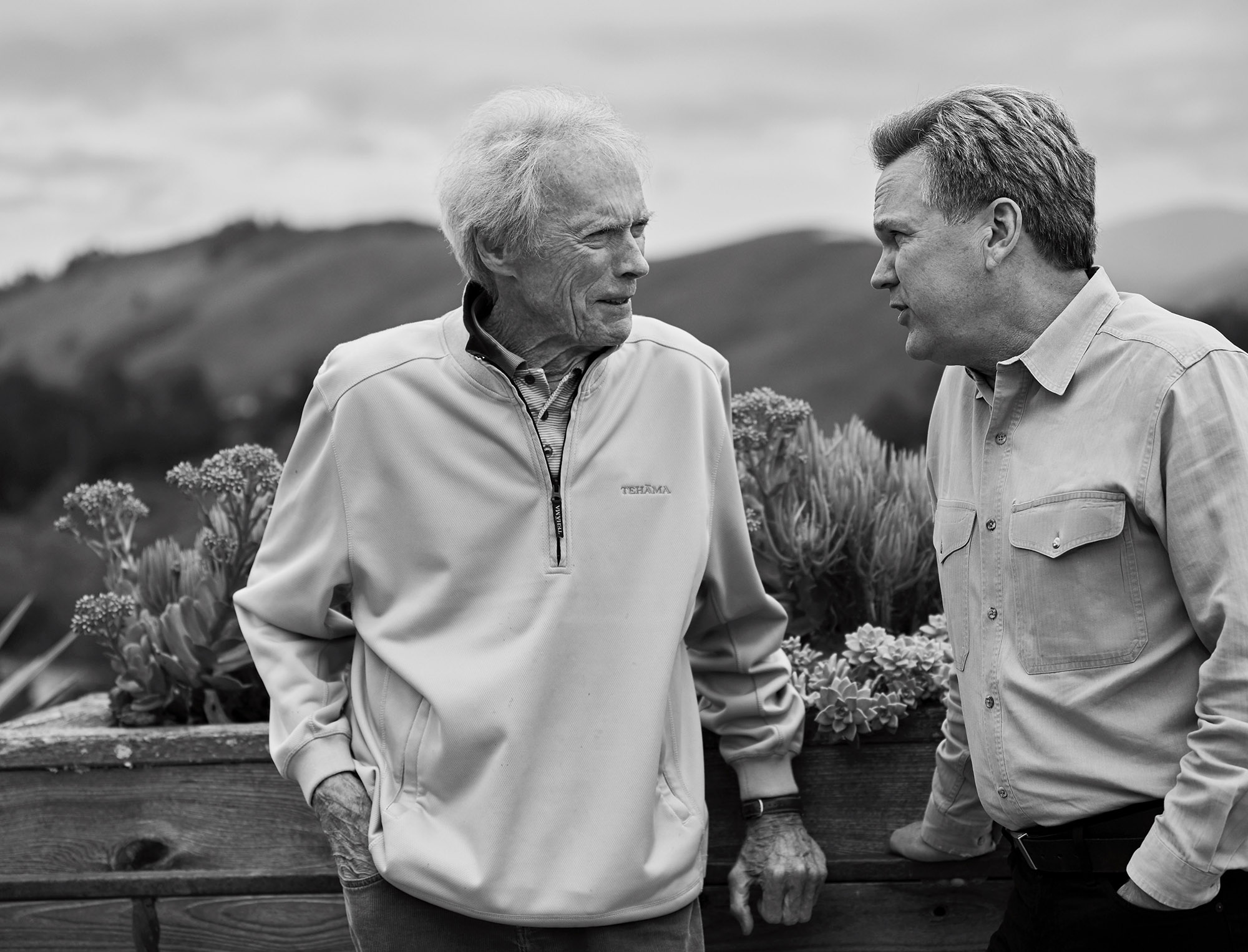 Eric O'Keefe with Clint Eastwood at his beloved Tehama